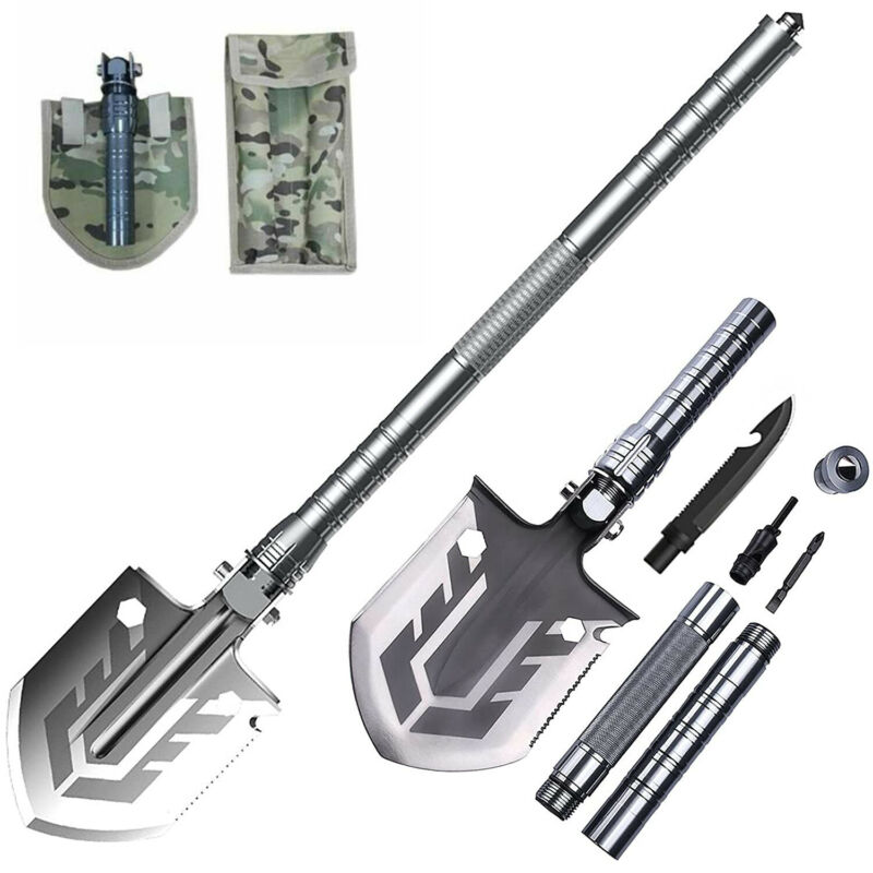 Outdoor Survival Folding Shovel Camping Gear Tactical Hunting Car Emergency Tool