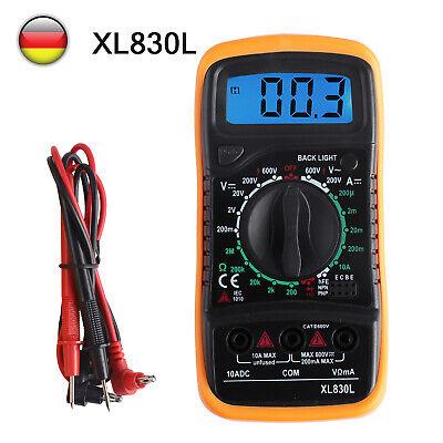 Digital Multimeter Stromprüfer Vielfach Messgerät Voltmeter Spannungsmesser ABS