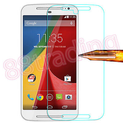 Tempered Glass Screen Protector Protection for Motorola Moto G 2nd Generation