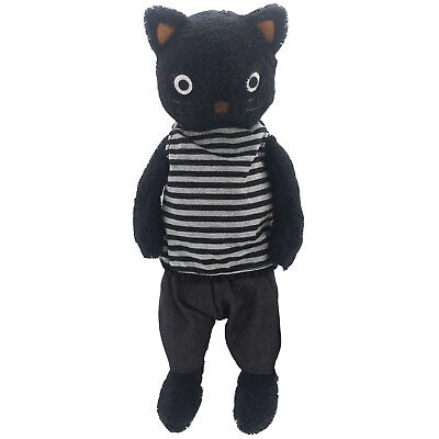 JIARU Stuffed Animals Toys Cat Plush Soft Adorable Dressed Dolls (Black 13 Inch) - Adorable Stuffed Animals