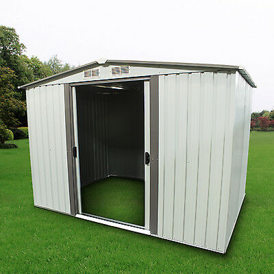 Outdoor Storage Shed Steel Garden Utility Tool Backyard Lawn Building Garage