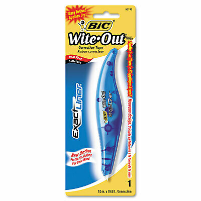 Bic Wite-out Exact Liner Correction Tape Pen Non-refillable Blue 15 X 236