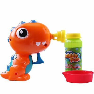 Boy Girl Fun Soap Water Bubble Machine Shooter Dinosaur Blower Set Gun Game Toy - Dinosaur Bubble Gun
