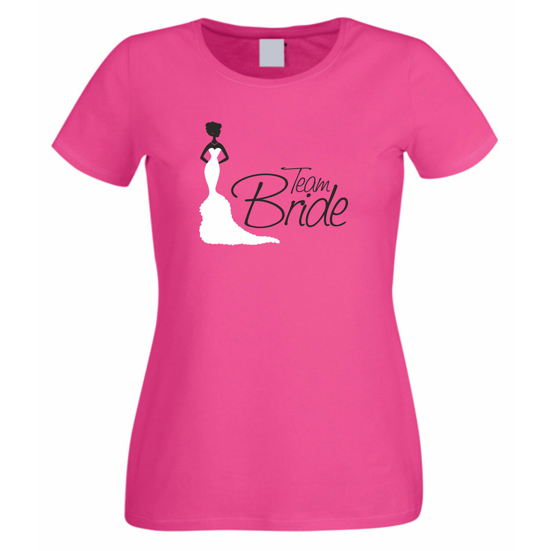 JGA Damen T-Shirt - TEAM BRIDE - Frauen Hochzeit Junggesellenabschied Heirat NEU