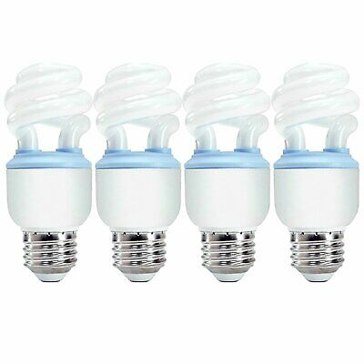 GE Reveal 10W CFL T2 Spiral Bulb 450lm 2500K Damp Rated UL Listed 4-Pack Ge Reveal Cfl