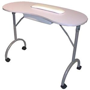 Portable table ebay for Fold up nail table