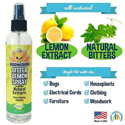 NEW Bitter Lemon Spray | Stop Biting and Chewing for Puppies Older Dogs and C...