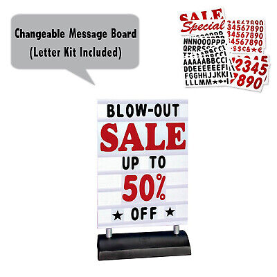 Springer Deluxe Message Board Sidewalk Sign Changing Letter Outdoor Sign White