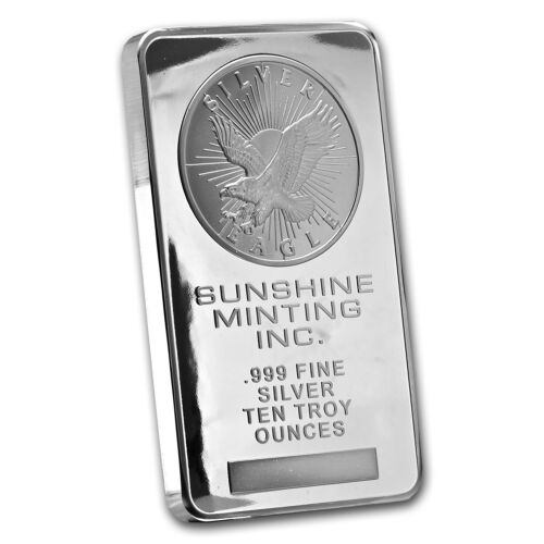 10 oz Silver Bar - Sunshine (Original) - SKU #43309