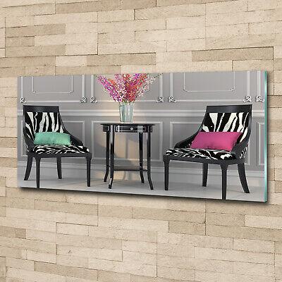 Wandbild aus Plexiglas® Druck auf Acryl 125x50 Sonstige Zwei Stühle
