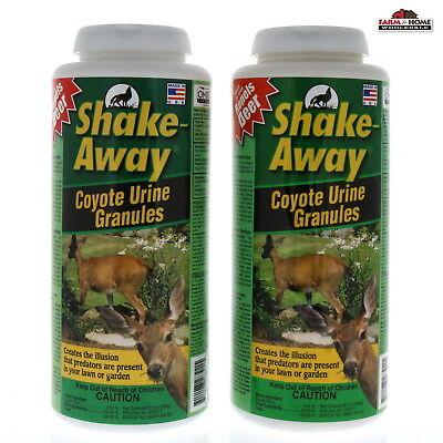 (2) Shake-Away Deer Repellent Coyote Urine Granules 28.5 oz ~ New (Deer Away Deer Repellent)