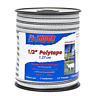 656 ft Electric Fence Poly Tape Insulators Wire Safe System White Horse 1/2-Inch
