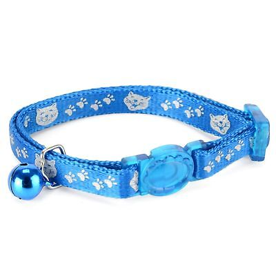 Reflective Face Cat Collar. Blue, bell, strong nylon, adjustable Petface