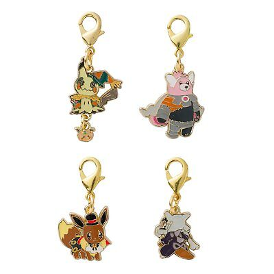 Pokemon Center Original Pokemon Halloween Time Metal Charm Set Mimikyu Japan