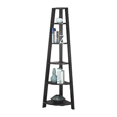 Contemporary Etagere (Monarch Specialties 2495 72 Inch Tall Cappuccino Corner Accent Etagere Bookcase )
