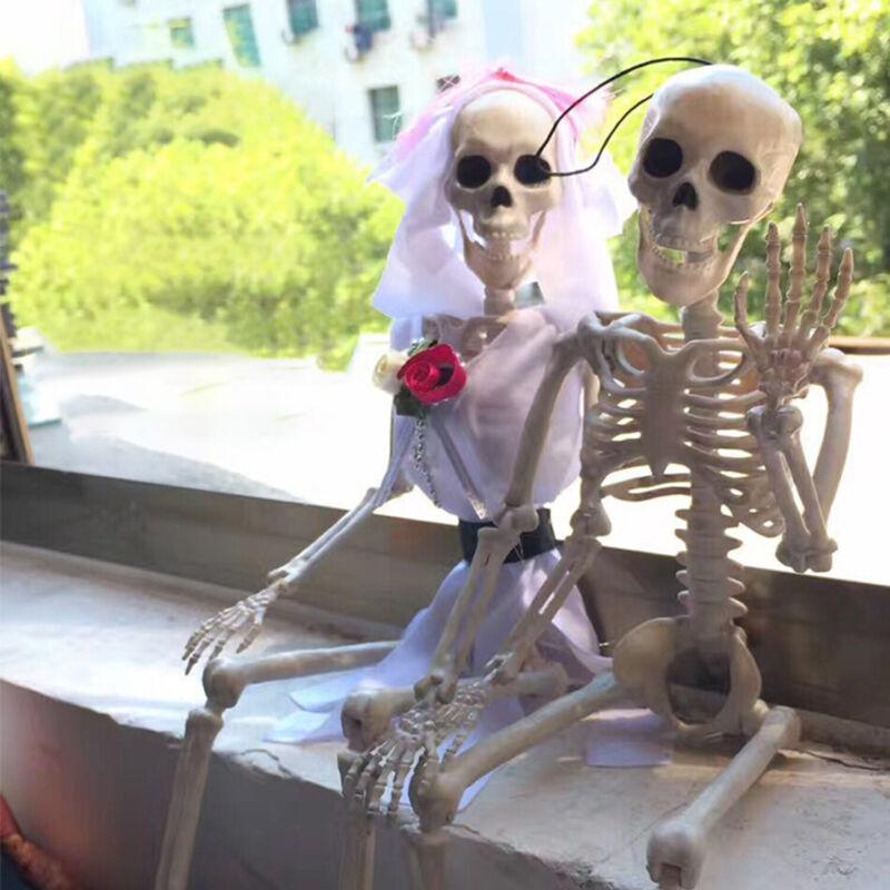 Halloween Poseable Full Life Size Skeleton Party Prop Decor Human Anatomy Model