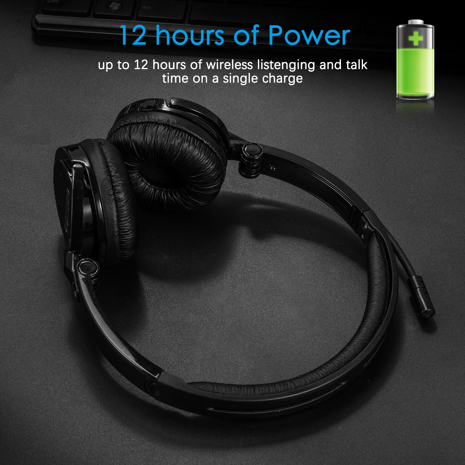 Buletooth Headset Stereo Headphone for PC Gaming Music Lapto