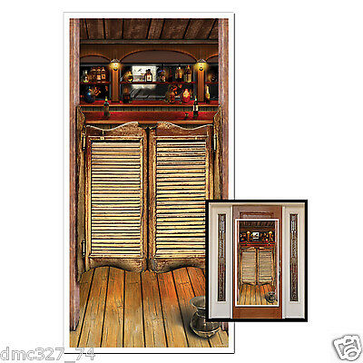 Western Cowboy Wild West Party Decoration Prop SALOON Wall DOOR COVER 30in x 5ft - Western Prop