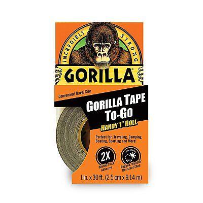 Gorilla Glue 6100101 Duct Tape To-go 1 X 30 Ft Black