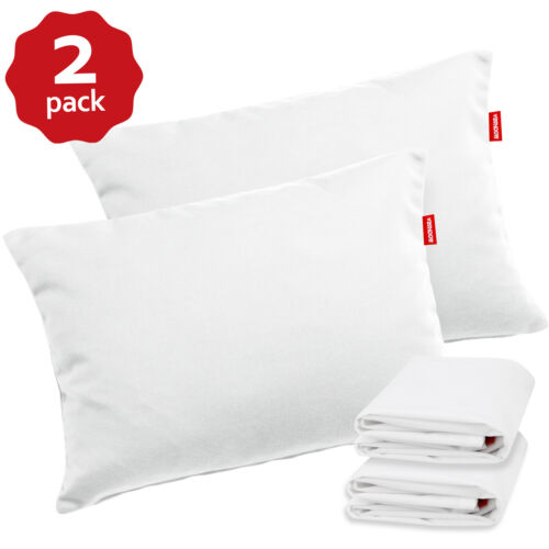 """Toddler Pillows with 100% Cotton Pillowcase 2 Pack 14""""x19"""" Kids Pillow Ages 2-5"""
