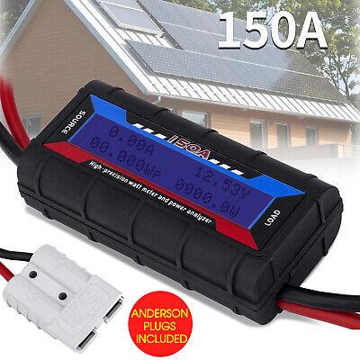 150a Digital Lcd Display Watt Meter Power Analyser System Solar Wanderson Plugs