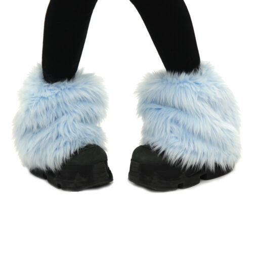 PAWSTAR Ankle Furry Leg Warmers - Fluffies Boot Cover Pastel Baby Blue [LB]2590
