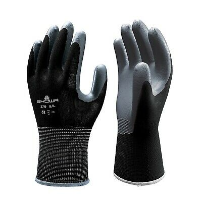 Showa Atlas Fit 370 Black Nitrile Gardening Work Gloves Sm M L Xl