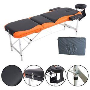 Table de Massage Sport Tatouage Spa -Noir et Orange