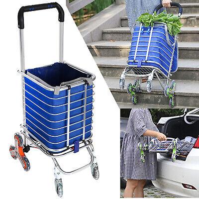 Folding Shopping Cart Portable Stair Climbing Cart Heavy Duty Grocery Cart --new