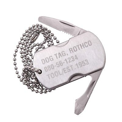 Tag Tool (Multi-Tool Dog Tag Survival Tool w/ Screwdriver Knife Bottle Opener Rothco 5269)