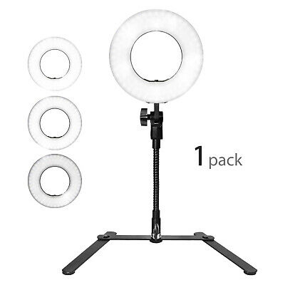 1x LED Selfie Ring Light Cell Phone Holder for Video Live Broadcasting Streaming Led Cell Phone