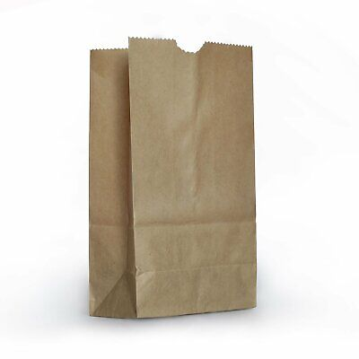 Ecoquality 500 Small Brown Kraft Paper Bag 3lb Lunch Snacks Gifts Grocery Merch