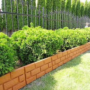 Cordolo bordura recinto bordo da giardino 2 2 m di for Bordure aiuole plastica