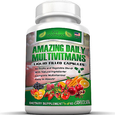 Best Daily Multivitamins In Liquid Capsules For Men  Women Over 50 And Seniors