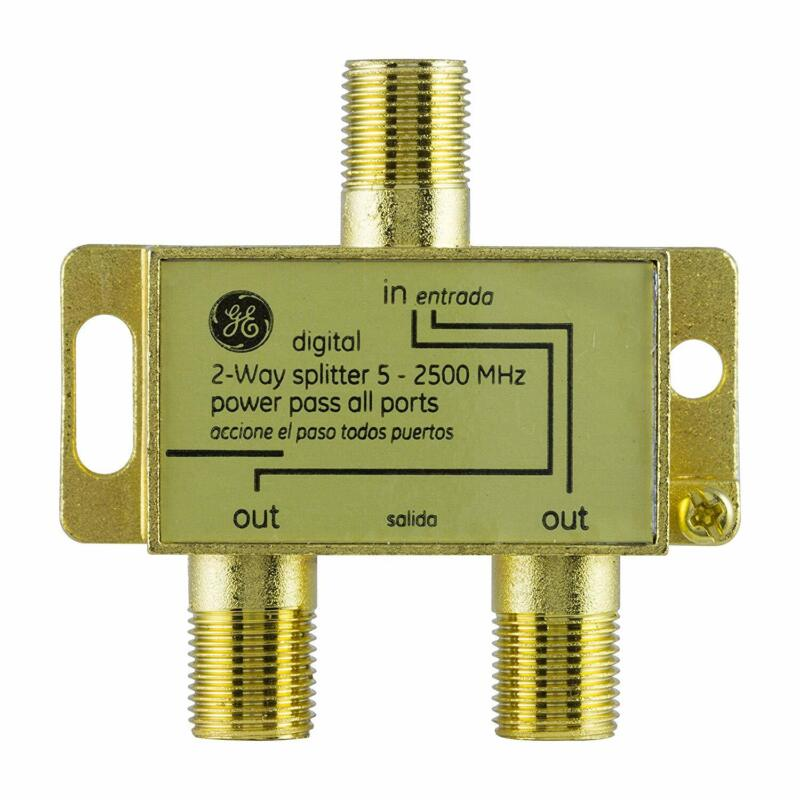 GE Digital 2-Way Coaxial Cable Splitter, 2.5 GHz 5-2500 MHz,