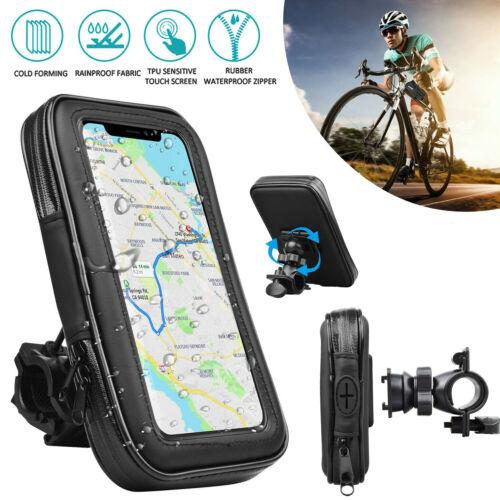 Universal Motorcycle Bicycle Bike Handlebar Cell Phone GPS Mount Holder Bag Case