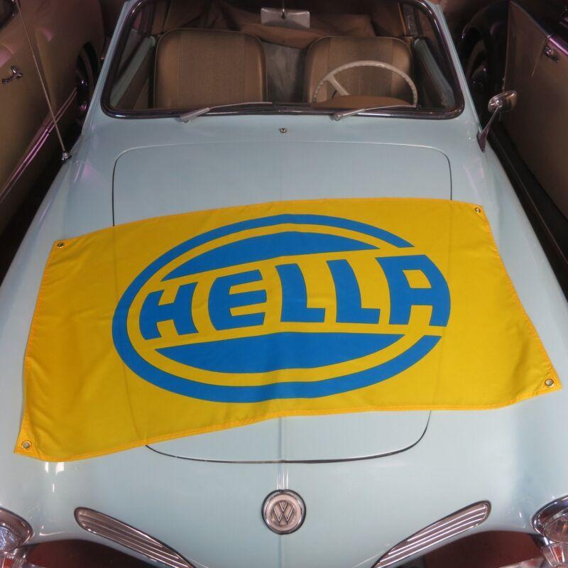 Hella Flag Banner vw volkswagon samba oval split bug porsche bmw m3 ruf 356 911