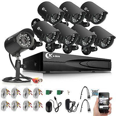 XVIM 8CH HDMI DVR Outdoor 1500TVL CCTV Surveillance Home Security Cameras System