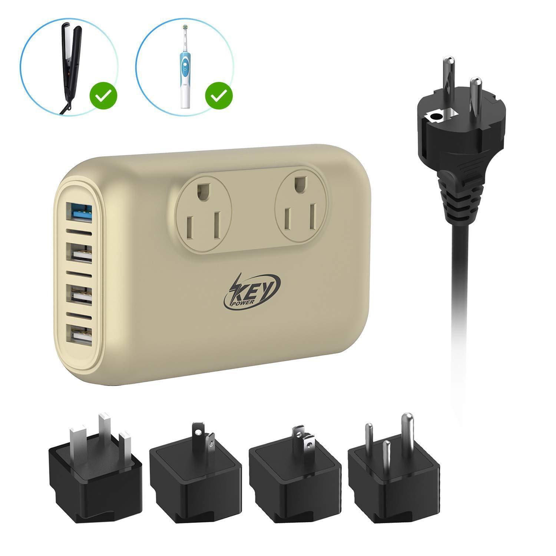 220V 110V Travel Power Voltage Converter Works for Curling I