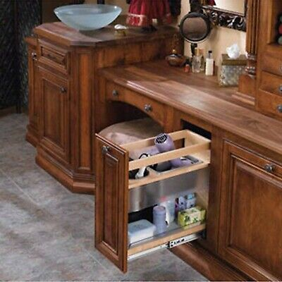 Vanity Grooming Organizer - Base Height, Natural, Wood - Maple (445-VCG25-8)