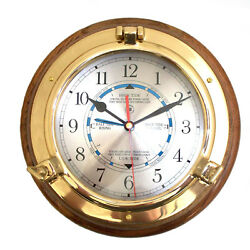 Bey-Berk 9.5 Porthole Time and Tide Wall Clock