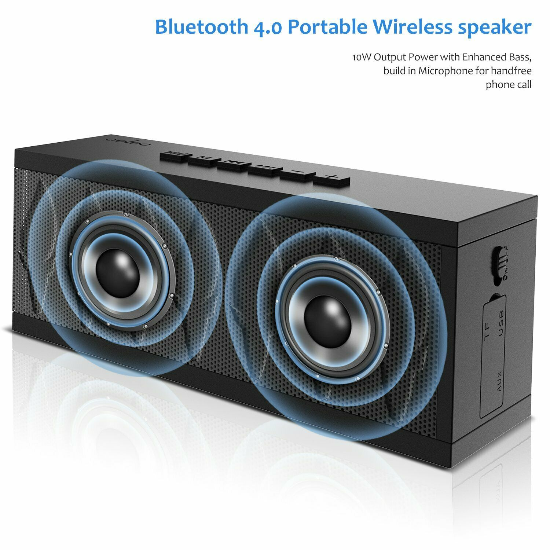 AELEC Bluetooth Speaker Wireless Portable Speakers with Wate