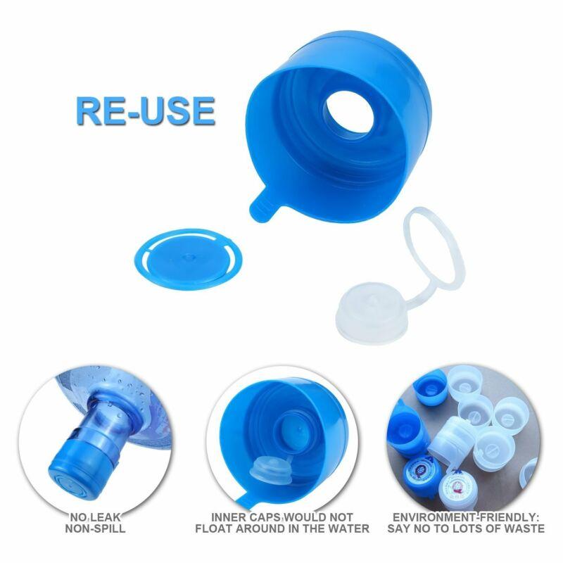 15pcs 5 Gallon Replacemet Water Bottle Snap On Cap Anti Splash Peel Off Top 55mm