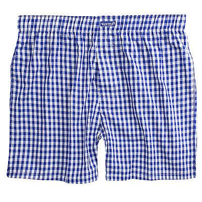 Plaid Woven Boxer Shorts - Ritzy Men's Boxer Shorts Underwear 100% Cotton Poplin Plaid Yarn Dyed Woven