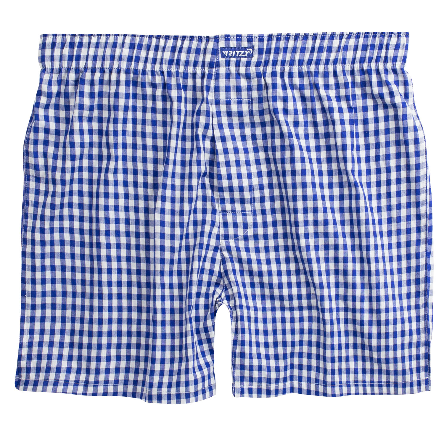 Ritzy Men's Boxer Shorts Underwear 100% Cotton Poplin Plaid Yarn Dyed Woven Clothing, Shoes & Accessories