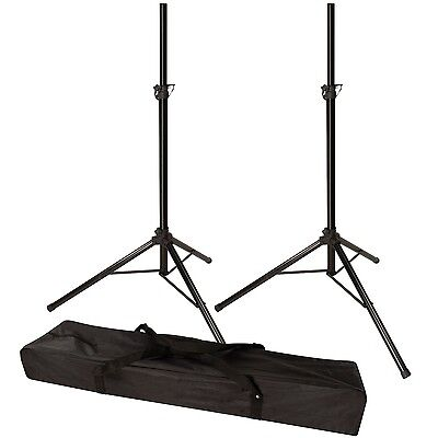 120lb Load Pair PA Speaker Monitor Stage Stands on Tripod
