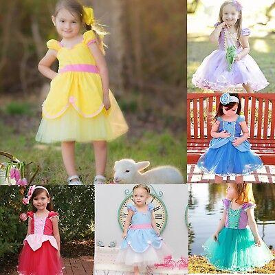 Disney Princess Baby Kid Girls Dress Toddler Halloween Carnival Party Tutu - Carnival Kids