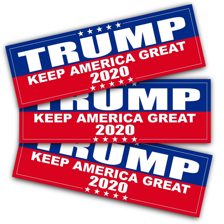 Anley 9X3 inch Trump 2020 Keep America Great Decal Car  Bump