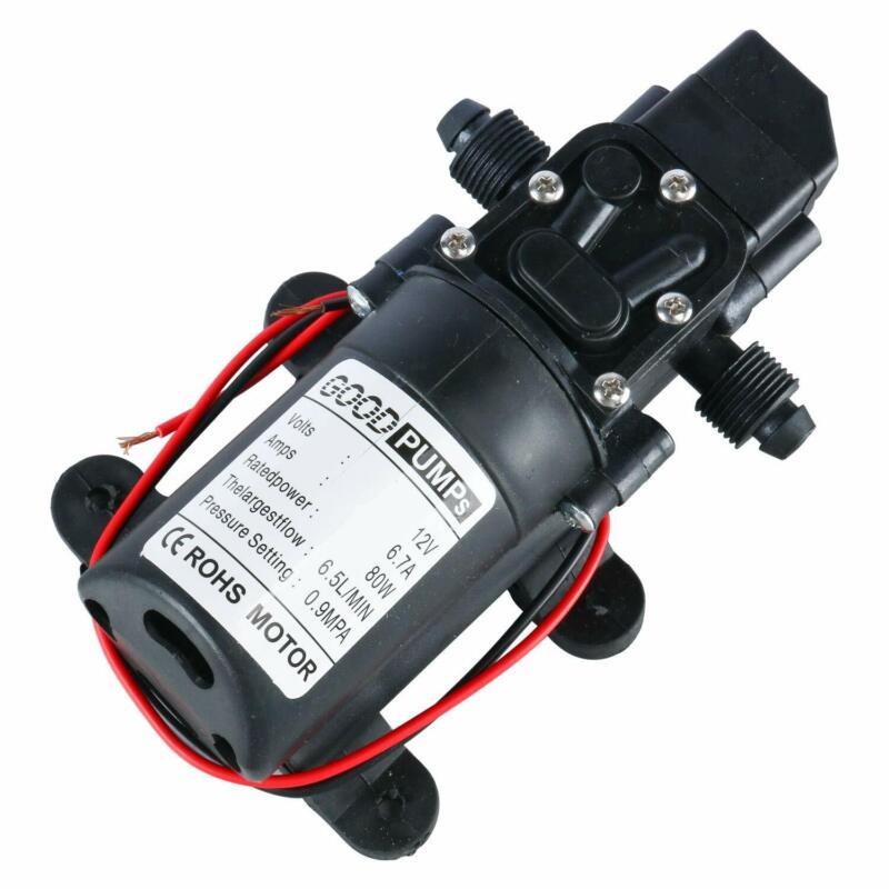12V Water Pressure Diaphragm Pump6.5 L/MIN 1.7 GPM 80W Self Priming Sprayer Pump