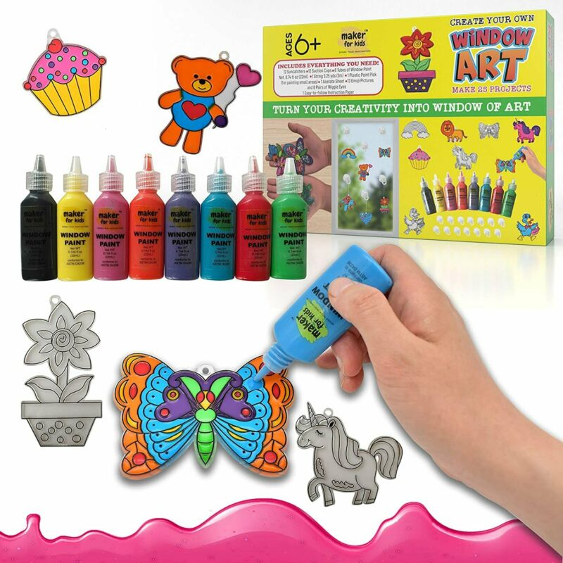 KOKO AROMA Create Your Own Window Paint Art Suncatcher Craft Kit-Boys...